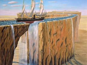 'W drodze do Bukry', olej na płótnie, 73 x 65 cm