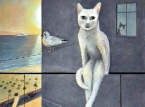 Gdyńska kotka II,   73 x 50 cm
