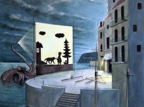 Teatr ośmiornicy,   80 x80 cm