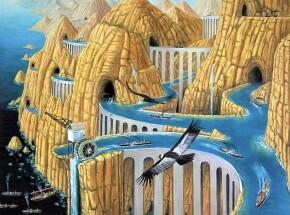 Sen nawigatora - Archipelag Yerki, 80 x 70 cm, 2020