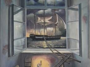 ' Plan ucieczki', 70 x 60 cm, 2021 (2)